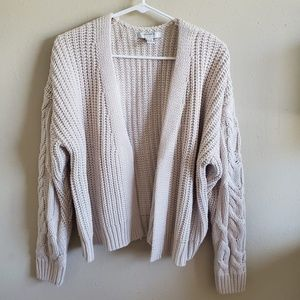 Forever 21 cable knitted cardigan